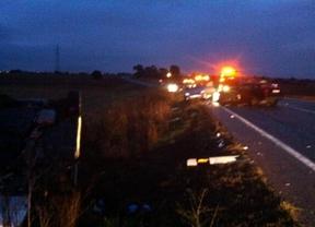 7 heridos, dos de ellos graves, en un accidente múltiple en la M-600