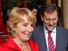 Aguirre, convencida de que Rajoy será presidente