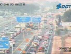 Dos accidentes marcan el tráfico en las carreteras