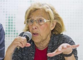 Manuela Carmena apoya la huelga de basuras,