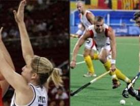 Los madrileños dan la cara en piragüismo, basket y hockey