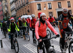 La San Silvestre Ciclista recorre el centro de Madrid