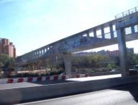 Las pasarelas de la M-30, en marzo de 2010