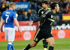 La selección española de fútbol se impuso a Italia
