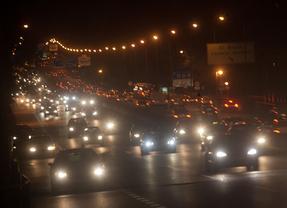 Retenciones en las carreteras madrileñas por las compras de Reyes