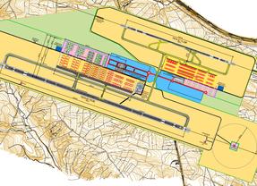 Un aeródromo entre dos tierras
