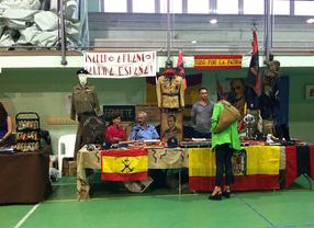 Feria celebrada en Quijorna con símbolos franquistas