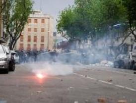 Lluvia de piedras entre radicales en Vallecas