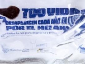 Esculturas de hielo contra el cáncer de piel