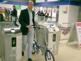 Las bicis podrán entrar en el Metro en horas valle