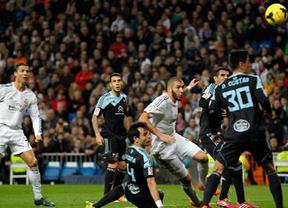 Benzema y Cristiano acuden al rescate ante el Celta