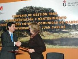 La Comunidad reforestará 75 hectáreas de la Universidad Rey Juan Carlos