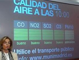 Cuatro pantallas ofrecen en Colón los datos de calidad del aire