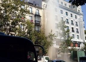 Rotura de tubería en la calle Serrano