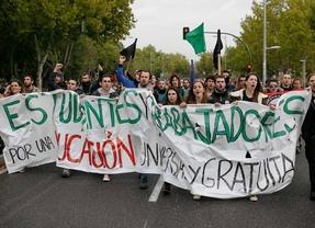 Los estudiantes retoman las protestas con dos jornadas de huelga