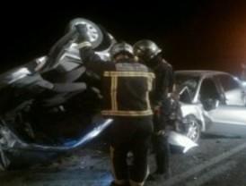 Cuatro heridos en un aparatoso accidente de tráfico en la M-229, dos de ellos graves