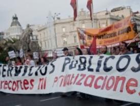 Discreta participación en la marcha por los servicios públicos europeos