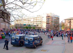 Alrededores del Calderón horas antes de un partido