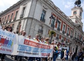 Manifestación de los extrabajadores de Telemadrid