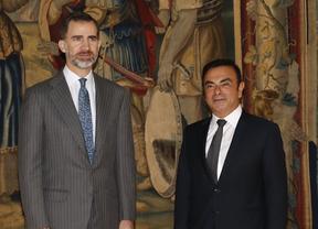 El rey Felipe VI recibe a Carlos Ghosn Presidente de Renault-Nissan