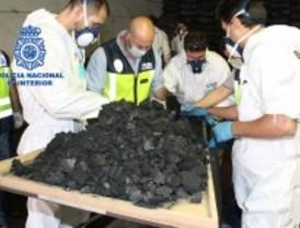 Intervienen 50 kilos de droga camuflada en carbón vegetal