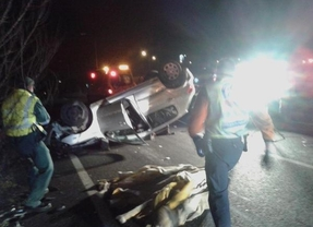 Herido muy grave tras chocar su vehículo con un guardarraíl