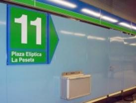 Un autobús unirá este fin de semana Plaza Elíptica y La Peseta por las obras de la línea 11 de Metro