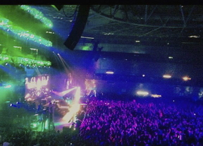 Fiesta en el Madrid Arena.