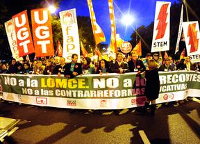 Cabeza de la manifestación contra la LOMCE
