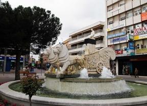 Fuente de la Cibelina en la plaza del General Palacio de Getafe