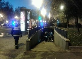 Controlado un incendio en una galería subterránea cercana a Plaza España