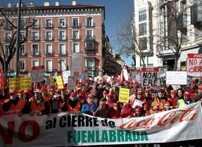 Marcha desde la planta de Casbega de Fuenlabrada de los trabajadores de Coca-cola en contra del ERE