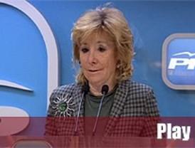 Aguirre acusa al PSOE y los sindicatos de querer convertir España en Grecia