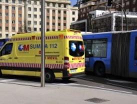 Herido un motorista en un accidente en la calle Alcalá
