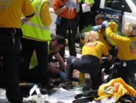 Un motorista accidentado en estado crítico
