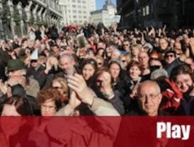 Una multitud sale a la calle para apoyar al juez Garzón