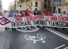 Protesta de los trabajadores de Metro