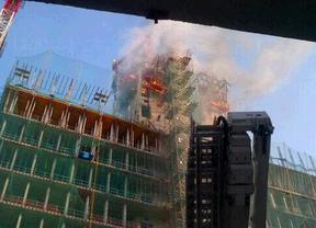 Incendio en la nueva sede de BBVA en Las Tablas