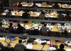 Las bibliotecas se preparan para los exámenes de septiembre