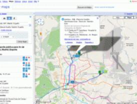 Google integra el transporte público madrileño