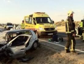 Heridas tres mujeres en un accidente múltiple