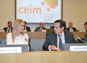 Cristina Cifuentes, candidata a la Presidencia de la Comunidad de Madrid, se reúne con la junta directiva de CEIM.