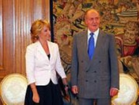 El Rey, muy molesto con Aguirre por defender a Jiménez Losantos
