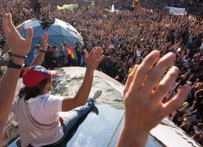 Asamblea masiva en el segundo aniversario del movimiento 15m en la Puerta del Sol