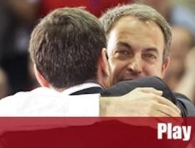 Zapatero se vuelca con Gómez para dar
