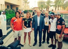 El Rey Juan Carlos apoya a los pilotos españoles