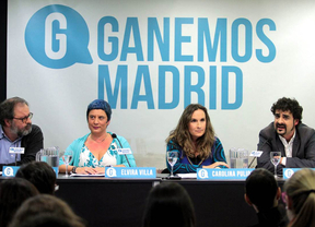 Ganemos Madrid durante su presentación