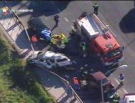 Accidente múltiple en la carretera de Extremadura