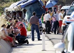 Accidente de autobús en Tornadizos (Ávila)