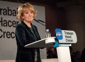 Esperanza Aguirre en el Palacio Municipal de Congresos de Madrid